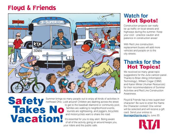Cartoons reach Cleveland RTA employees every month -- reminding them of safety policies, benefit programs and wellness initiatives.