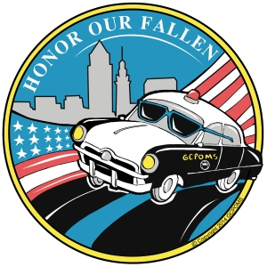 A 1950's police car is the mascot for the Greater Cleveland Peace Officers Memorial Society.